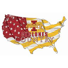Iowa State University USA Shape Flag Cutout