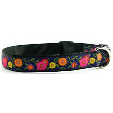 Isabella Cane Dog Collar Purple Flowers L