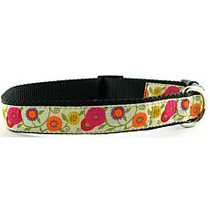Isabella Cane Dog Collar - White Flowers L