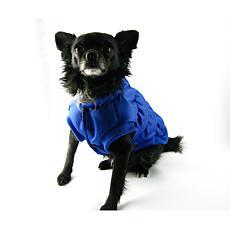 Isabella Cane Doggy Puffer Jacket Blue - Size 8