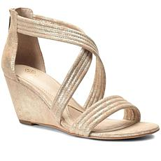 Isola Suede Wrapped Wedge Sandal