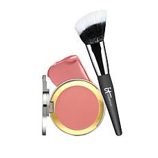 IT Cosmetics Naturally Pretty CC Creme Blush w/Angled Radiance Brush