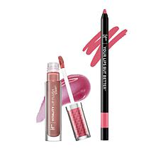 IT Cosmetics Rose/Pink Perfect Lip Gloss Stain and Liner Stain Duo