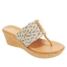 480427bbe29 Italian Shoemakers Angeles Cork Wedge Sandal