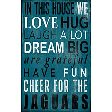 Jacksonville Jaguars In This House Sign