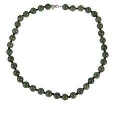 "Jade of Yesteryear 18"" Jadeite Jade Beaded Necklace"