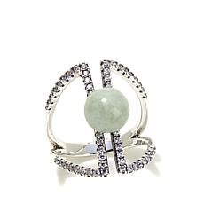 Jade of Yesteryear Green Jade Negative Space Ring