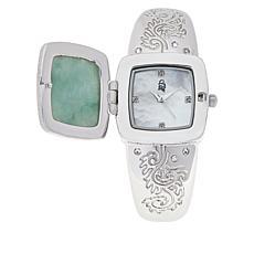 Jade of Yesteryear Multigemstone Dragon Cuff Watch