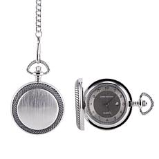 James Michael Men's Quartz Pocket Watch with Photo Frame and Date