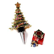 "JAY Jay Strongwater ""Deck the Halls"" Wine Stopper"