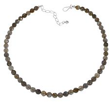 "Jay King 18"" Sterling Silver Labradorite Faceted Bead Necklace"