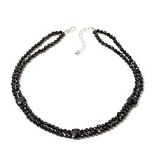 "Jay King 2-Strand Black Agate Bead 20"" Necklace"