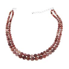 "Jay King 2-Strand Strawberry Quartz Bead 18"" Necklace"