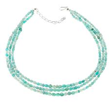 "Jay King 3-Strand Amazonite Bead 18"" Necklace"