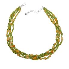"Jay King 4-Strand Peridot and Aragonite Bead 18"" Necklace"