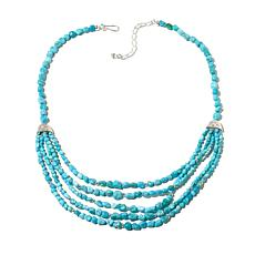 "Jay King 5-Strand Iron Mountain Turquoise 20"" Necklace"