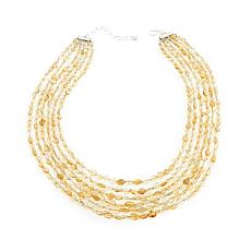"Jay King 6-Strand Citrine Bead 18-1/4"" Necklace"