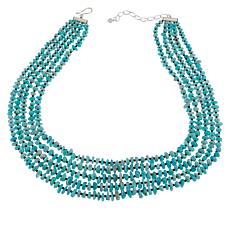 Jay King Amazonite and Black Spinel Bead 5-Strand Necklace