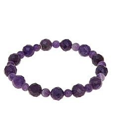 Jay King Amethyst & Cape Amethyst Bead Stretch Bracelet