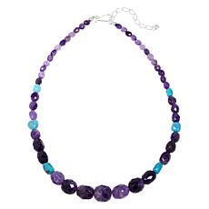 Jay King Amethyst and Turquoise Nugget Bead Necklace