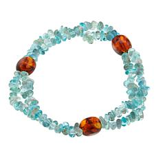 Jay King Apatite and Amber Stretch Bracelet