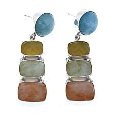 Jay King Aquamarine and Morganite Sterling Silver Drop Earrings