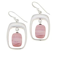 Jay King Australian Pink Opal Framed Drop Earrings