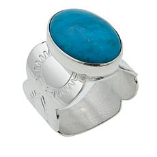 Jay King Azure Peaks Oval Turquoise Sterling Silver Ring