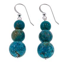 Jay King Azure Peaks Turquoise Bead Drop Sterling Silver Earrings
