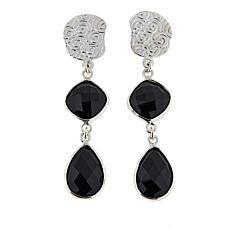 Jay King Black Agate Drop Sterling Silver Earrings