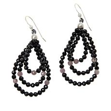 Jay King Black Spinel and Colored Gemstone Bead Drop Earrings