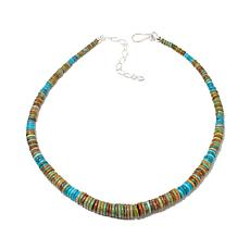 Jay King Blue and Green Turquoise Disc Necklace