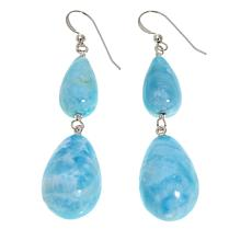 Jay King Blue Aragonite Sterling Silver Drop Earrings