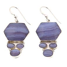 Jay King Blue Lace Agate Drop Sterling Silver Earrings