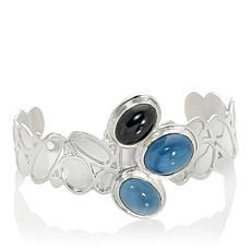 Jay King Blue Opal and Black Tourmaline Cuff Bracelet