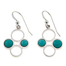 Jay King Campitos Turquoise Circles Sterling Silver Earrings