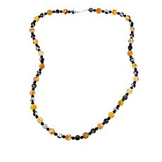 "Jay King Chalcedony and Black Agate Bead 36"" Necklace"