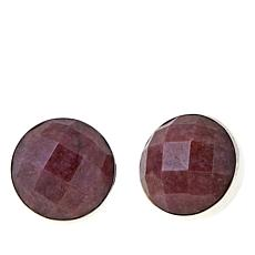 Jay King Checkerboard-Cut Round Rhodonite Earrings