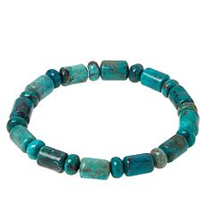 Jay King Chrysocolla Bead Stretch Bracelet