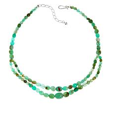 "Jay King Chrysoprase Nugget Sterling Silver 18"" Necklace"