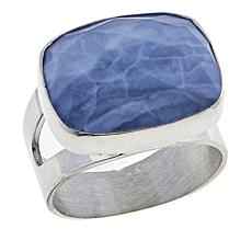 Jay King Cushion-Cut Dream Blue Opal Sterling Silver Ring