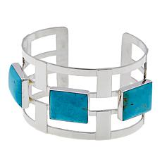 Jay King Cushion-Cut Sonoran Turquoise  Cuff Bracelet