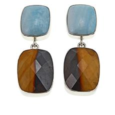 Jay King Desert Sunset and Blue Aragonite Drop Earrings