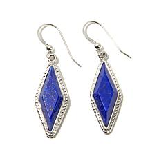 Jay King Diamond-Shape Blue Lapis Drop Earrings