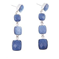 Jay King Dream Blue Opal Barrel-Shaped Drop Sterling Silver Earrings