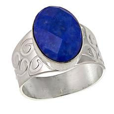 Jay King Faceted Dark Blue Lapis Sterling Silver Ring