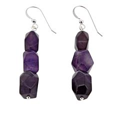 Jay King Freeform Amethyst Drop Sterling Silver Earrings