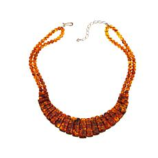 "Jay King Freeform and Round Amber 17-1/2"" Necklace"