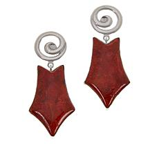 Jay King Gallery Collection Freeform Orange Coral Earrings