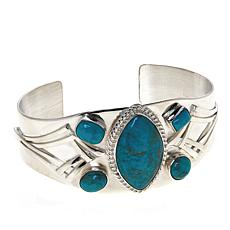 Jay King Gallery Collection Multi-Cut Angel Peak Turquoise Cuff